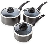 Tower Cerasure Pan Set with Non Stick Inner Coating, Graphite, 3-Piece