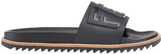 Fendi Logo-Embossed Slide Sandals