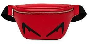 Fendi Men's Embossed Eye Leather Belt Bag