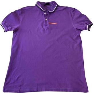Prada Purple Cotton Polo shirts