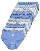 George 10 Pack Assorted Heart Briefs