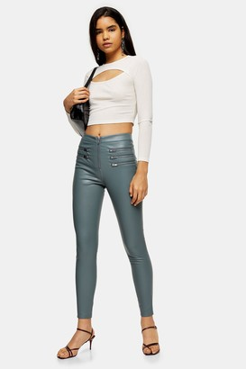 Topshop Sage Faux Leather Biker Pants