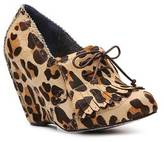 Irregular Choice I'm From The Future Leopard Wedge Bootie