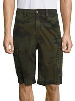 True Religion Trooper Patch Camouflage Printed Shorts