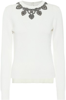 Alexander McQueen Applique cashmere sweater
