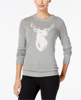 Charter Club Deer Graphic Sweater, Only at Macy's