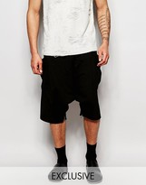Unplugged Museum Drop Crotch Shorts With Zips