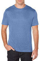 Perry Ellis Solid Linen Short-Sleeve Crewneck Tee