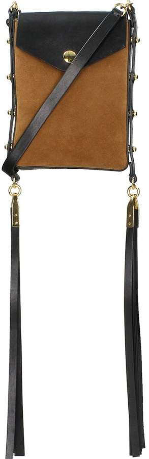 Isabel Marant Teinsy Fringed Suede Crossbody Bag