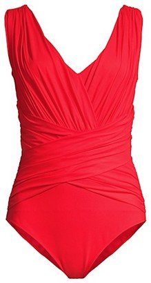 Chiara Boni Ansy Ruched One-Piece Swimsuit