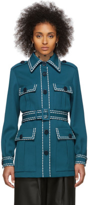 Fendi Blue Safari Belted Jacket