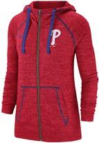 Nike Women's Red Philadelphia Phillies Gym Vintage Team Full-Zip Hoodie