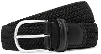 Andersons Solid Woven Elastic Belt in Black