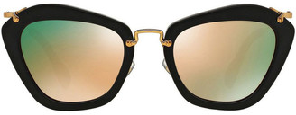 Miu Miu MU 04QS 369516 Sunglasses Black
