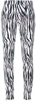 Giamba zebra print trousers - women - Cotton/Spandex/Elastane - 40