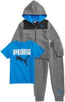 Puma 3-Pc. T-Shirt, Hoodie and Pants Set, Little Boys (4-7)