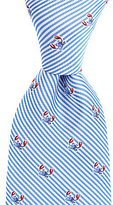 Roundtree & Yorke Trademark Striped Crab-Pattern Silk Tie