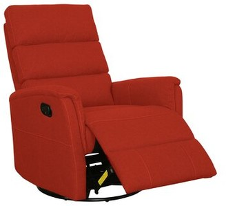 Red Barrel Studio Frederika Manual Swivel Recliner Upholstery Color: Orange