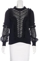 Andrew Gn 2016 Lace-Accented Top