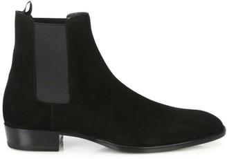 Saint Laurent Wyatt Suede Chelsea Ankle Boots