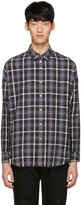 Diet Butcher Slim Skin Black Oversized Check Shirt
