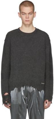 C2H4 Grey Vagrant Ruin Distressed Sweater
