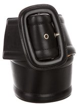 Michael Kors Leather Buckle Waist Belt