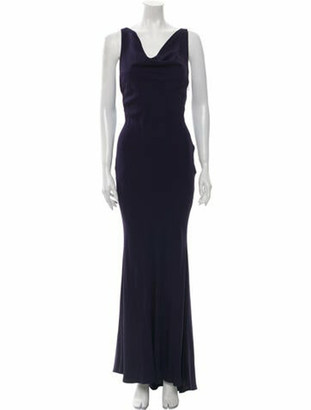 Rochas Cowl Neck Long Dress w/ Tags Blue