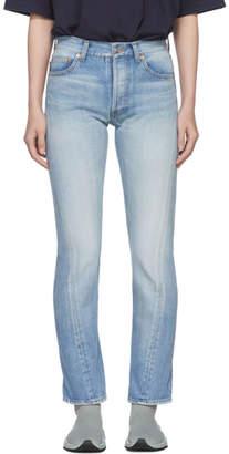 Balenciaga Blue Twisted Leg Jeans
