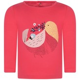 Catimini CatiminiBaby Girls Pink Bird Print Top