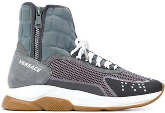 Versace Cross Chainer high-top sneakers