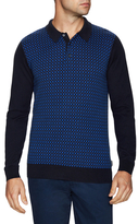 Ben Sherman Long Sleeve Polo Sweater