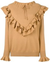 Stella McCartney ruffled detail jumper