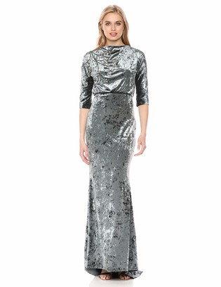 Badgley Mischka Women's Beaded Velvet Gown