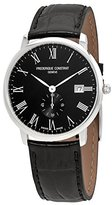Frederique Constant Men's 40mm Leather Band Steel Case Sapphire Crystal Quartz Watch FC-245BR5S6