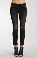 Mavi Jeans Adriana Ankle Super Skinny In Black Destructed Tr
