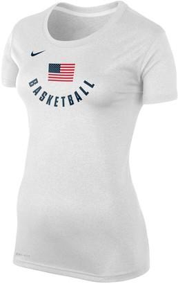 Nike Women's White USA Basketball Legend Performance T-Shirt