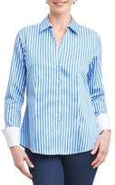 Foxcroft Lauren Sateen Stripe Shirt