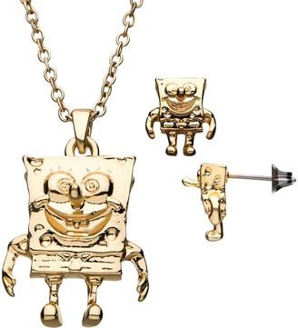 Nickelodeon SpongeBob Pendant & Earring Set
