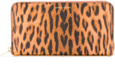 Sophie Hulme leopard print zipped wallet - women - Leather - One Size