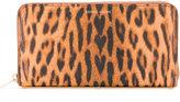 Sophie Hulme leopard print zipped wallet