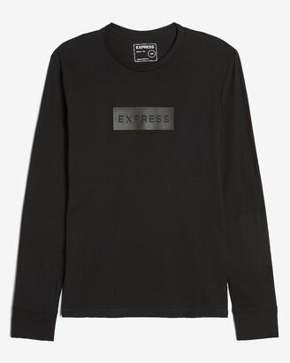Express Black Long Sleeve Graphic T-Shirt