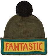 "Fendi Men's ""Fantastic"" Pom-Pom-Embellished Wool Beanie"