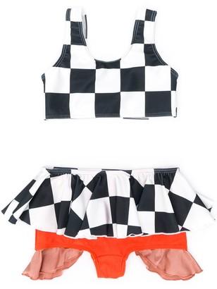 Wolf & Rita Mercedes chess-print bikini