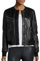 Generation Love Gigi Leather Puffer Bomber Jacket
