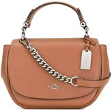 Coach flap fastening tote