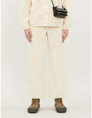 Won Hundred Kiri wide high-rise corduroy trousers