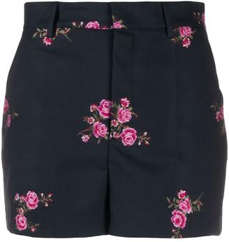 RED Valentino Flower Jacquard Gabardine Shorts