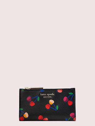Kate Spade Spencer Cherries Small Slim Bifold Wallet