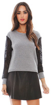 LnA Fitz Sweater in Heather Grey/Black